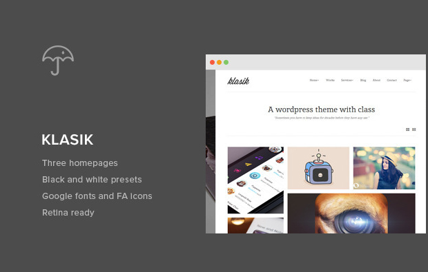 Klasik – Responsive Retina WordPress theme