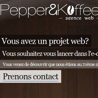Pepper and koffee, Web agency