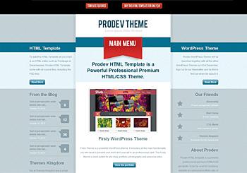 Prodev HTML Template