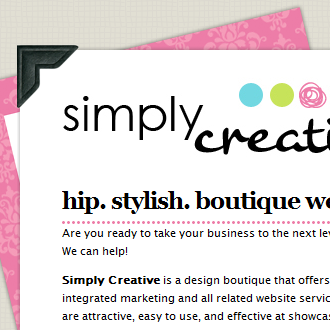 Boutique web design, hip website designer, stylish premade websites
